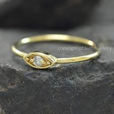 Solid 14k Yellow Gold Natural Solitaire diamond Evil ... - Amazon.com