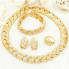 2019 <b>Liffly</b> Bridal Fashion <b>Dubai</b> Gold <b>Jewelry</b> Sets For <b>Women</b> ...