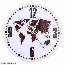 <b>Simple World Map Wall</b> Clock   My Wall Clock