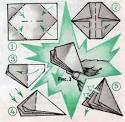 Хлопушка из бумаги из оригами