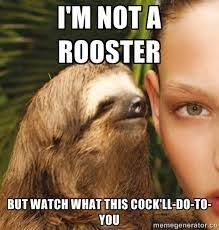 Dirty sloth meme | NSFW Funny Stuffs | Pinterest | Sloth Memes ... via Relatably.com