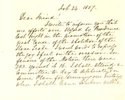 letter from thomas clarkson expressing joy at the passing for the manuscript letter p1