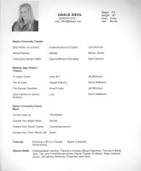 dancer curriculum vitae sample cipanewsletter resume dance resume sample