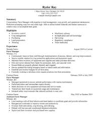 farm manager resume template farm manager resume