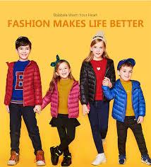 Balabala Winter Jacket <b>girls</b> boys Duck Down children <b>fashion</b> ...