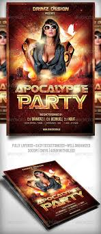 apocalypse party flyer sexy fonts and flyer template psd apocalypse party flyer template only available here ➝ graphicriver