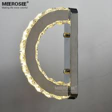 modern led wall light fixture crystal wall sconce lustres d shape mirror stainless steel beside lamps for bedroom bathroom affordable bathroom sconce affordable bathroom lighting