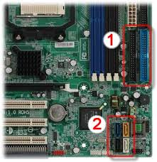 adding or replacing a hard drive in hp and compaq desktop pcs hp motherboard sata and ide connectors