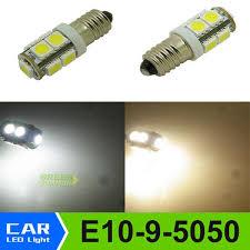 1Pcs <b>E10 EY10</b> T3.25 9 SMD 5050 LED 3000K 6000K Lights ...