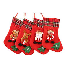 Buy FunPa 4PCS <b>Christmas Stocking Creative</b> Xmas Tree Ornament ...