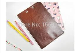 4pcslot new fashion a5 leather clip board cute file clipboard with hook a5 clipboard clip boards