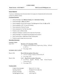 sample software testing resume   qisra my doctor says     resume    fresher testing cv