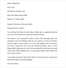 sample character reference letter for court documents in pdf  character reference letter for court child custody