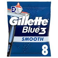 <b>Gillette Blue 3</b> Dispsable Razors x8   Sainsbury's