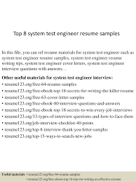 system test engineer sample resume examples of resume templates app6891 thumbnail 4jpg cb 1434269942 top8systemtestengineerresumesamples 150614081352 lva1 app6891 thumbnail 4 top 8 system test engineer resume samples