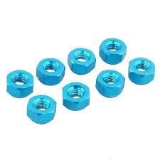 RC 122048(<b>02102</b>)Blue Aluminum <b>Nylon Nut M3</b> Fit HSP 1/10 On ...