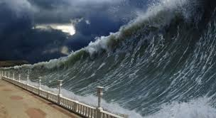 facts about tsunamis   dosomething org   volunteer for social    a tsunami is a series of ocean waves caused by an underwater earthquake  landslide  or volcanic eruption  more rarely  a tsunami can be generated by a giant