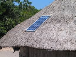 Solar Panels on a straw house!