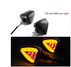 Leebo <b>2Pcs Motorcycle Turn Signal</b> Light Indicator Corner Lamp ...