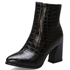 Vimisaoi Women's Fashion Pointed Toe Chunky ... - Amazon.com