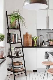 read moreall white kitchen black ladder for deco scandinavian interior inspiration black and white kitchen kitchen cuisine bookcase rea avenue greene grey ladder storage office wall