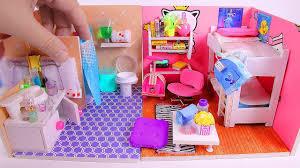 5 <b>DIY Miniature Dollhouse</b> Rooms - YouTube