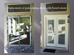 patio doors with blinds between the glass: removing patio sliding door and installing french doors with mini blinds the mini blinds are