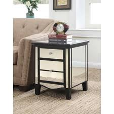 marble dining table adecc: gold coast park lane mirrored end table in black gold or silver