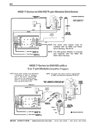 msd ignition wiring diagrams msd 7 series to gm 4 5 and 7 pin hei part 2
