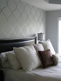 grey bedroom paint ideas latest accent wall flat high gloss stencil beautiful diy tutorial great way t