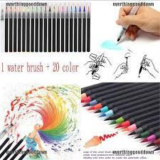 <b>20 Color Premium</b> Painting <b>Soft</b> Brush Pen Set Watercolor Markers ...