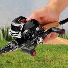 <b>17</b>+<b>1BB</b> 7.2:1 Gear Ratio Baitcasting Fishing Reel <b>High</b> Speed ...