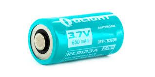 Купить <b>аккумулятор Li-ion Olight ORB-163C06</b> 16340 3,7 В. 650 ...