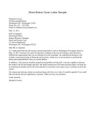 insurance broker cover letter sample com stock broker cover letter sample insurance underwriter cover letter sample