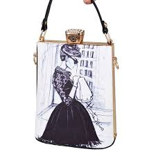 <b>Fashion Cartoon Characters</b> face Painting Bag PU Women Clutches ...