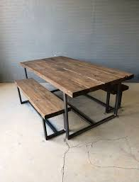 quality small dining table designs furniture dut: reclaimed industrial chic   seater solid wood and metal dining tablebar and