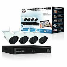 Night Owl 4 Channel 1080p <b>Wireless Smart</b> Security Hub with 4 x ...