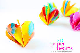 A <b>Colorful 3D</b> Paper Heart Craft for <b>Valentine's Day</b> - Babble Dabble ...