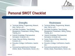 Personal SWOT Analysis - A good tool for assessing employees ... 12.