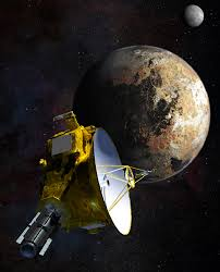 what is the planet mercury nasa a drawing of a spacecraft and a partial view of pluto charon in the distance