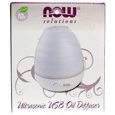 Now Foods, <b>Solutions</b>, Ultrasonic <b>USB Oil Diffuser</b>, 1 Diffuser - Buy ...
