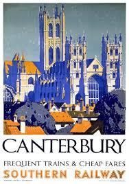 <b>Canterbury</b> Cathedral, Kent. Vintage Southern Railway <b>Travel</b> ...