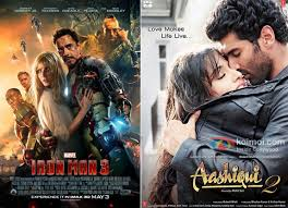 iron man 3 and aashiqui 2 movie poster aashiqui 2 beats iron man