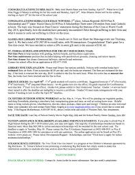 st teresa parish school current newsletter page 2
