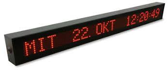 <b>LED Display</b> and NTP Slave Clock VP100NET