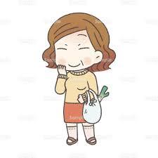祖母と買い物