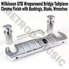 <b>Wilkinson GTB Wraparound Bridge</b> Tailpiece Chrome Stop Tail ...