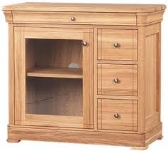 clemence richard moreno oak 3 drawer cd and dvd unit with glass door 556a baumhaus mobel oak dvd