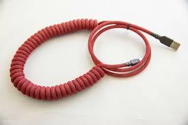 PEXON PCs - Coiled Mini <b>USB</b> to <b>USB</b> in [550] Thin <b>Red Line</b> and ...