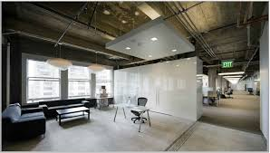 pretty and creative office space idea with modern white cupboard as room divider black sofa charming cool office design 2